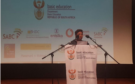 Minister of Basic Education Angie Motshekga announcing the 2017 matric results and pass rate on 4 January, 2018. Picture: Thando Khubeka/EWN