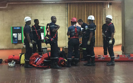 Trainees are put through their paces during a rescue operation course. Picture: @ResQSA/Twitter