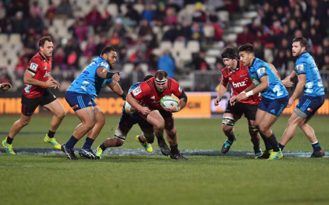 Canterbury Crusaders began their quest for a 10th Super Rugby title with a win over the Auckland Blues at Eden Park on Saturday. Picture: @SuperRugby/Twitter.