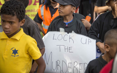 Residents of Westbury and surrounds march against crime. Picture: Thomas Holder/EWN