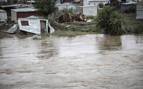 Shacks have been swallowed by the floods in Tshwane. Picture: Abigail Javier/EWN
