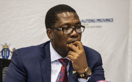 FILE: Gauteng Education MEC Panyaza Lesufi addresses the media on the state of readiness of the reopening of schools. Picture: Abigail Javier/EWN