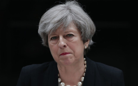 Britain's Prime Minister Theresa May delivers a statement outside 10 Downing Street in central London on 23 May 2017. Picture: AFP