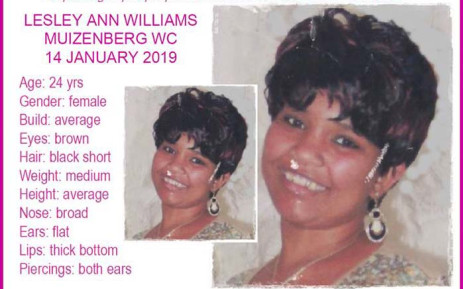 Lesley-Anne Williams. Picture: @MissingMinorsThePinkLadiesOrganizationNgo2007 via Facebook.com.
