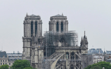 A view of the Notre-Dame de Paris Cathedral on the 'Ile de la Cite' island in the Seine river in Paris following the fire that devastated the cathedral on April 16, 2019. Picture: AFP