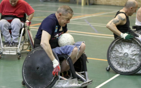 WHASCP Adaptive founder Victor Buitendag during wheelchair rugby training. Picture: Twitter/@TuksSport
