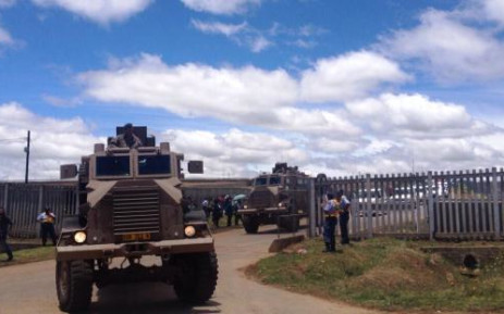Dozens of military and police trucks arrive at Mthatha Airport on 13 December 2013 ahead of Nelson Mandela's state funeral on 15 December. Picture: Govan Whittles/EWN.