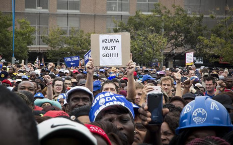DA supporters joined the #DAMarch as they marched to Mary Fitzgerald square in Johannesburg against the leadership of President Jacob Zuma on 7 April 2017. Picture: Reinart Toerien/EWN