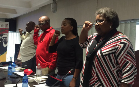 Cosatu's leadership on Tuesday 5 February 2019 reported back on its latest central executive committee meeting. Picture: @_cosatu/Twitter