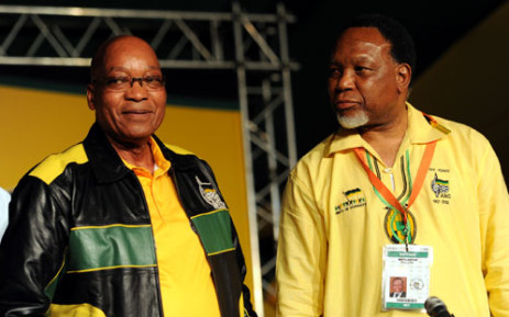 President Jacob Zuma and Deputy President Kgalema Motlanthe at the ANC conference in Mangaung. Picture: GCIS.