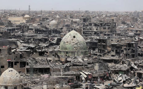 A picture taken on 9 July 2017 shows a general view of the destruction in Mosul's Old City. Picture: AFP.