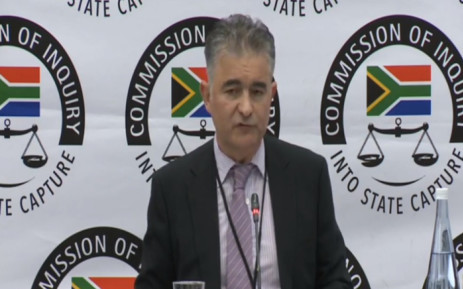Roberto Gonsalves gives his testimony at the Zondo commission of inquiry on 24 May. Picture: screengrab via YouTube.