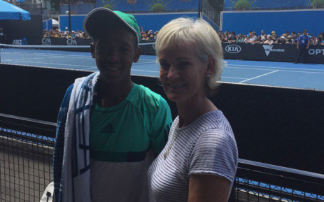 South African junior tennis player Siphosothando Montsi with Judy Murray. Picture: @JudyMurray/Twitter
