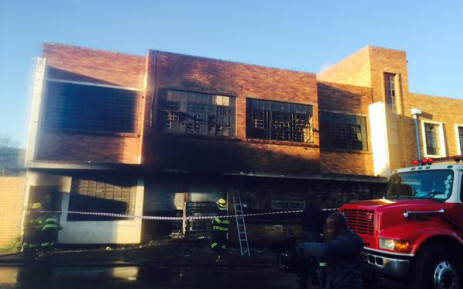 FILE: On Tuesday, at least three floors of an abandoned 10-storey building on Jeppe Street caught fire. Picture: Aurelie Kalenga/EWN.