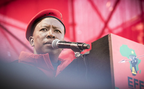 EFF leader Julius Malema addressed party supporters at the Peter Mokaba stadium in Polokwane on 31 July 2016. Picture: Thomas Holder/EWN