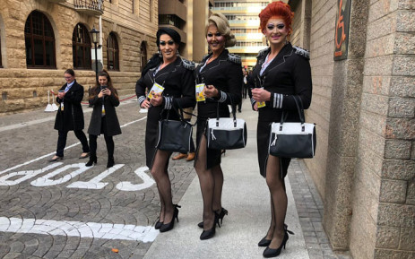 Cathy and the Trolley Dollies in Cape Town were the DA's special guests for the 2019 Sona on 20 June 2019. Picture: Cindy Archillies/EWN