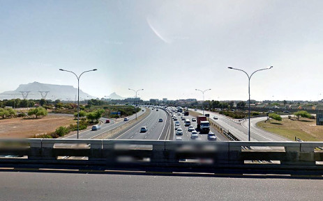 FILE: An image from Google Earth shows the N1 highway in Cape Town.