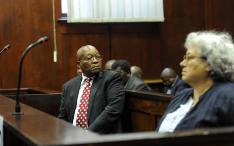 FILE: Former South African President Jacob Zuma, along with co-accused, Thales representative Christine Guerrier, appeared in the Durban High Court on 8 June 2018. He is charged with 16 counts that include fraud' corruption and racketeering. Picture: Felix Dlangamandla/Pool.