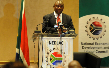 Deputy President Cyril Ramaphosa addressing the Labour Relations Indaba at Emperors Palace in Kempton Park, on 4 November 2014. Picture: GCIS.