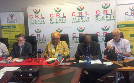 FILE: The CRL Rights Commission. Picture: Thando Kubheka/EWN