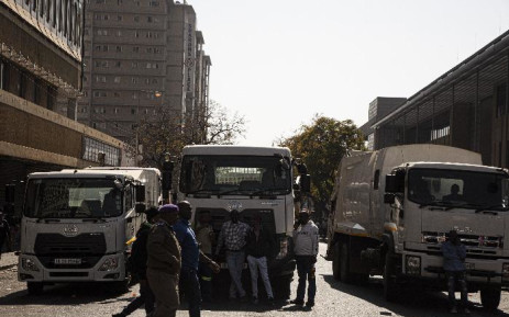 FILE: City of Tshwane municipal workers protest in the city centre demanding an 18% salary increase. Picture: Kayleen Morgan/EWN