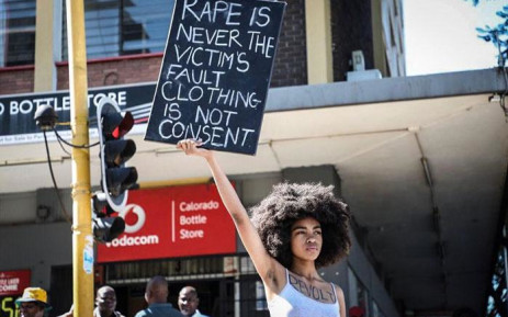 Zulaika Patel, the organiser of the silent protest outside the Pretoria Magistrates Court on 30 November 2018. Picture: Abigail Javier/EWN