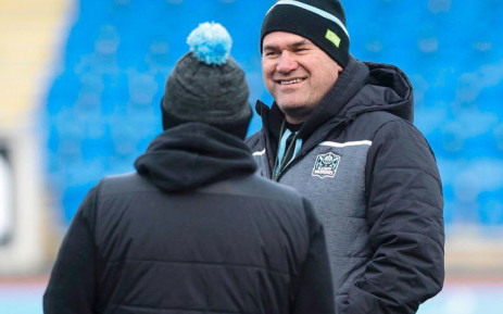 Dave Rennie (right) has been named as the head coach of the Wallabies. Picture: @GlasgowWarriors/Twitter