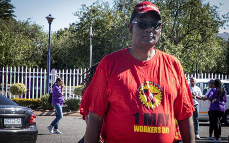 Saftu general secretary Zwelinviva Vavi joins Numsa and South African Cabin Crew Association (Sacca) members picketing at the SAA Airways Park in Kempton Park on 15 November 2019. Picture: Xanderleigh Dookey/EWN
