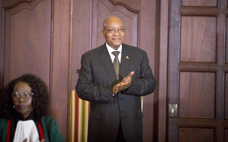 President Jacob Zuma rubs his hands together ahead of the swearing in ceremony of his new cabinet on 31 March 2017 in Pretoria. Picture: Reinart Toerien/EWN