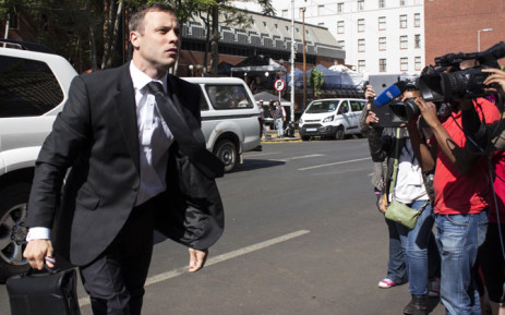 FILE: Oscar Pistorius arrives at the High Court in Pretoria ahead of his sentencing on 17 October 2014. Picture: Christa Eybers/EWN.