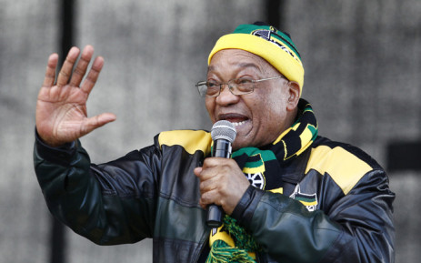 FILE: President Jacob Zuma addresses supporters during an ANC rally in Port Elizabeth on 23 July 2016 ahead of the municipal elections. Picture: AFP.
