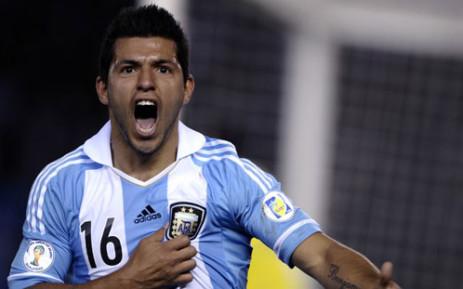 Manchester City's Argentine striker Sergio Aguero. Picture: AFP.