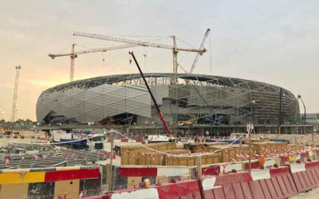 A file photo taken on 18 May 2019 during a media tour organised by Qatar's Supreme Committee for Delivery and Legacy, shows construction work at the site of the Education City Stadium in the capital Doha. Picture: AFP.