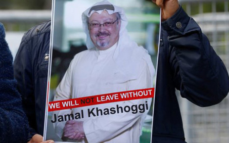 A poster with the image of Saudi journalist Jamal Khashoggi. Picture: Twitter