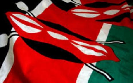 Kenyan flag. Picture: AFP.