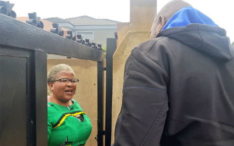 DA leader Mmusi Maimane visits Winnie Madikizela-Mandela's long-time personal assistant Zodwa Zwane at her home in Dobsonville, Soweto. Picture: @Our_DA/Twitter