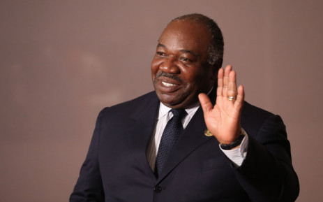 FILE Gabon's President Ali Bongo arrives to attend a session meeting during the 10th BRICS summit on 27 July 2018 in Johannesburg South Africa