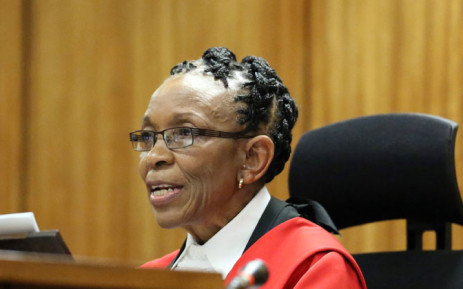 FILE: Judge Thokozile Masipa reads her judgement during sentencing of Oscar Pistorius at the High Court. Picture: Pool.