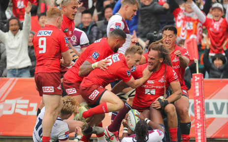 3360b000cf7 The Sunwolves score a try against the Reds in their Super Rugby match on 16  March