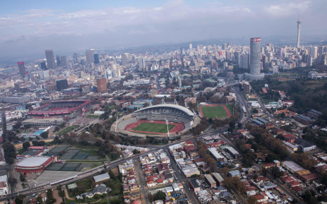 Aerial view of Johannesburg CBD. Picture: Abigail Javier/EWN