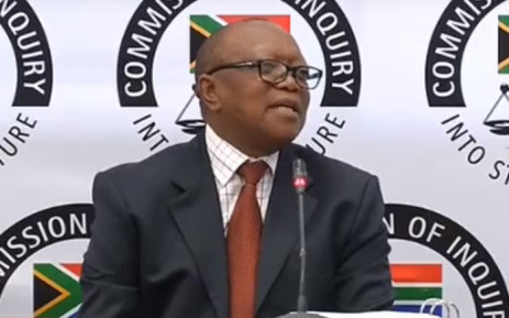 A screengrab of Transnet board chair Popo Molefe appearing at the Zondo Commission on 7 May 2019. Picture: YouTube