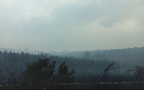 A thick cloud of smoke blankets the entire town of Knysna as the fire rages on. Picture: EWN.