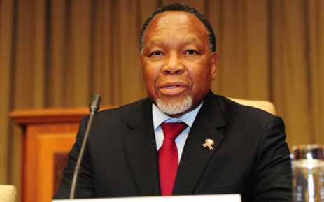 Deputy President Kgalema Motlanthe speaking at a meeting with members of the Road Freight Association. Picture: GCIS.