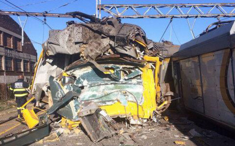 Two trains collided at Denver station, south of Johannesburg on 28 April 2015. Picture: @Nicol3tt300