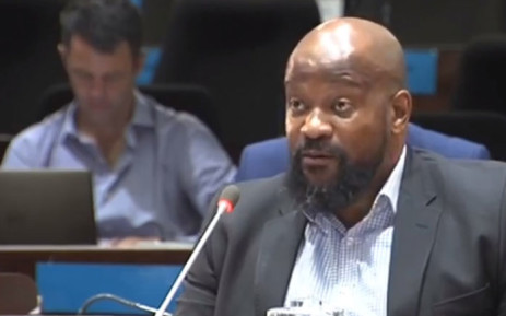 A screengrab shows Vuyo Jack at the PIC inquiry on 4 March 2019.