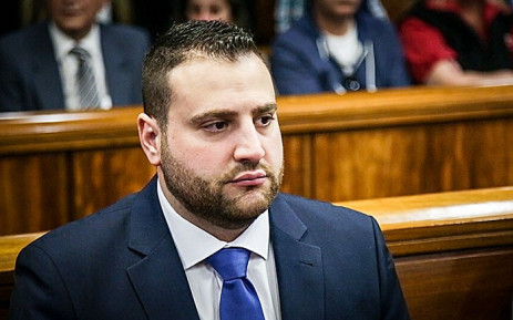 FILE: Christopher Panayiotou sits in the dock at Port Elizabeth High Court during the trial of the murder of his late wife, Jayde Panayiotou. Picture: EWN