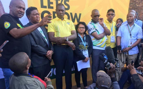 ANC leaders addressing the media at the IEC Results Operations Centre on 11 May 2019. Picture: Abigail Javier/EWN