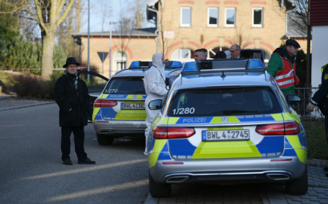 German police are seen at the site where a shooter, believed to have a personal motive, launched an assault on 24 January 2020 in the town of Rot am See in southwestern Germany. Picture: AFP