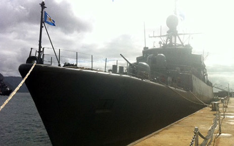 he Argentinean warship arrives at the Simon's Town Habour on 24 September 2012. Picture: Catherine Rice/EWN