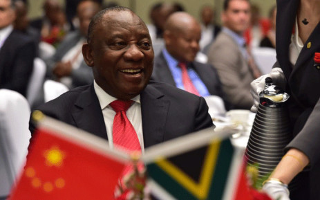 President Cyril Ramaphosa engages with South African business leaders at a business breakfast in Beijing ahead of the state visit and the Forum of China-Africa Cooperation (FOCAC). Picture: GCIS.